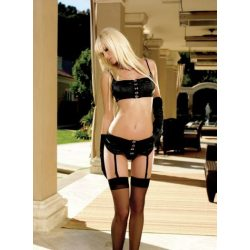 3pc Stretch satin with heavy hook