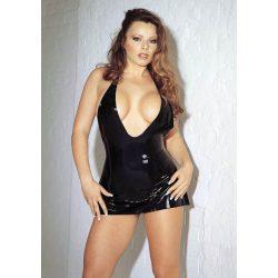 Erotic Mini Dress Black Large  latex ruha
